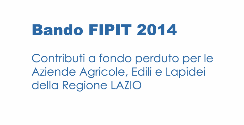 Bando FIPIT  2014