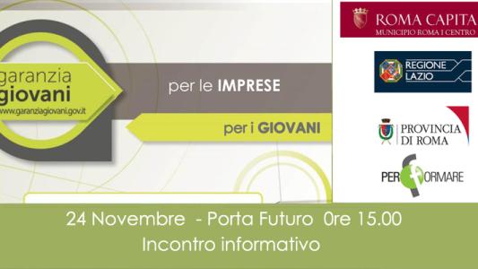 Incontro informativo Garanzia Giovani – 24 Novembre ore 15.00 Porta Futuro