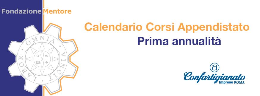 Calendario Corsi Apprendistato – Annualità 2015