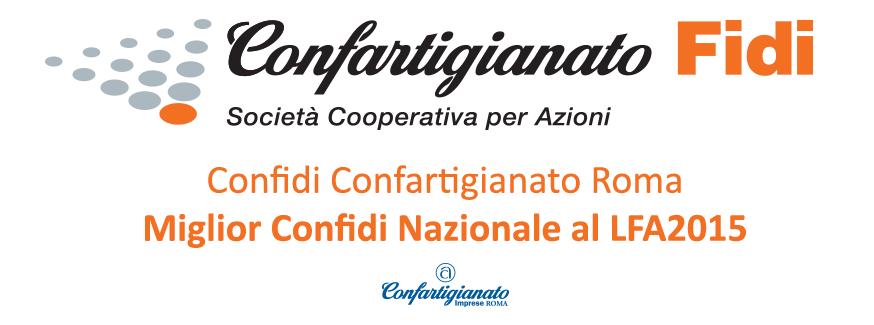 Confidi Confartigianato Roma: Miglior Confidi Nazionale al LFA2015