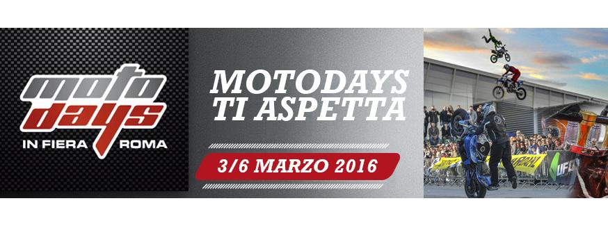 Dal 3 al 6 marzo, presso la Fiera di Roma, torna il Motodays